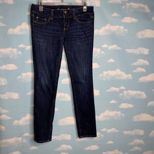 American Eagle- Dark Wash Super Skinny Jeans sz 4